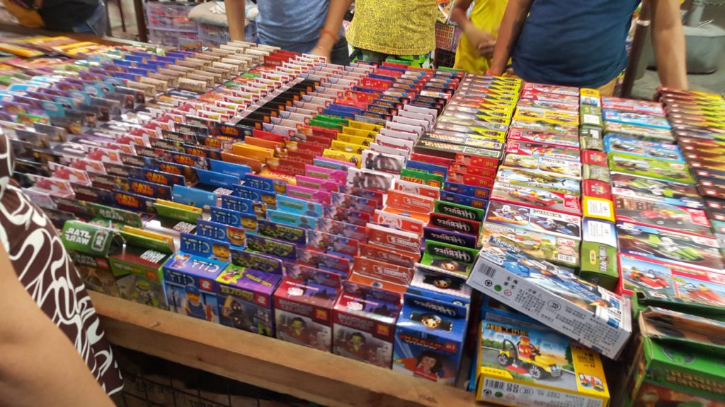 Fake LEGO in a Manila Market