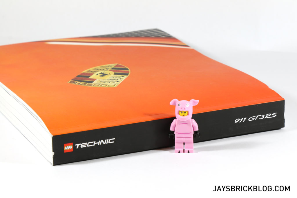LEGO 42056 Technic Porsche 911 GT3 RS Instruction Manual Thickness 1024x684 Porsche  Coffee Table Book