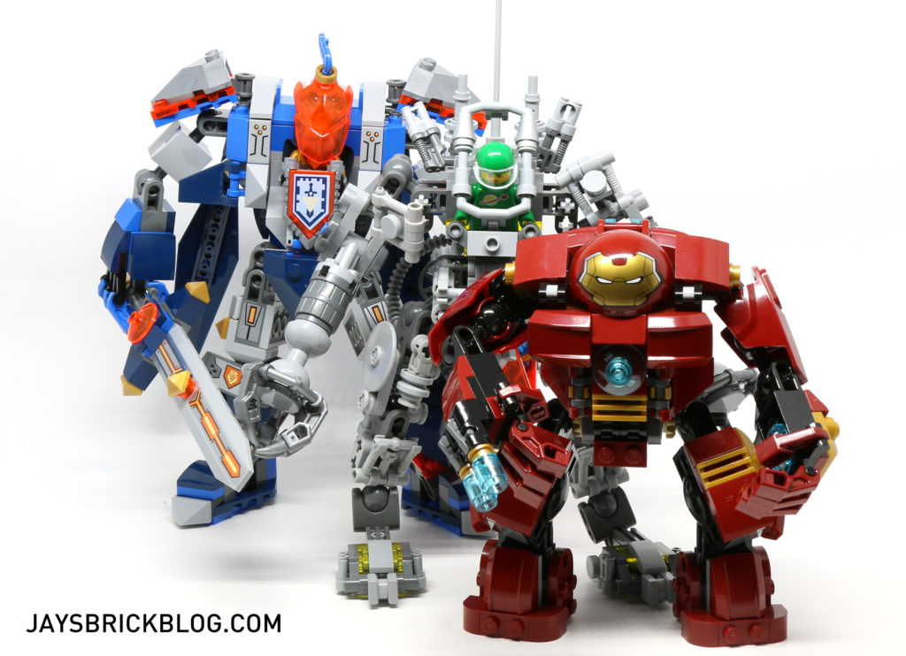 LEGO 70327 The King's Mech - LEGO Mech Size Comparison