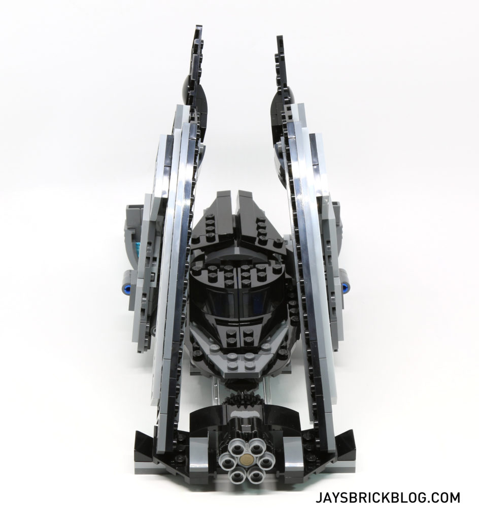 LEGO 76046 Heroes of Justice Sky High Battle - Batwing Landing Mode Front