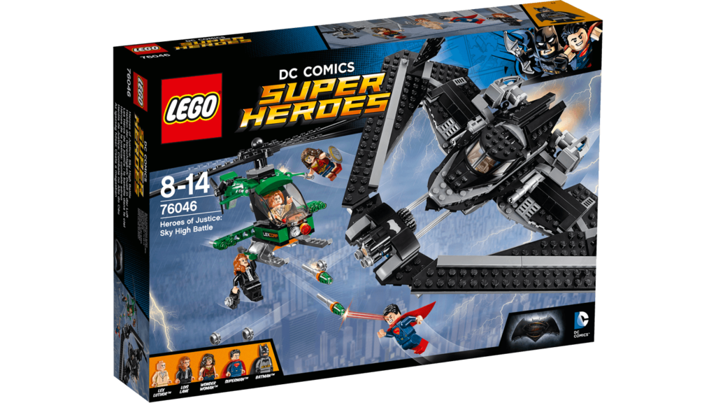 LEGO 76046 Heroes of Justice Sky High Battle - Box