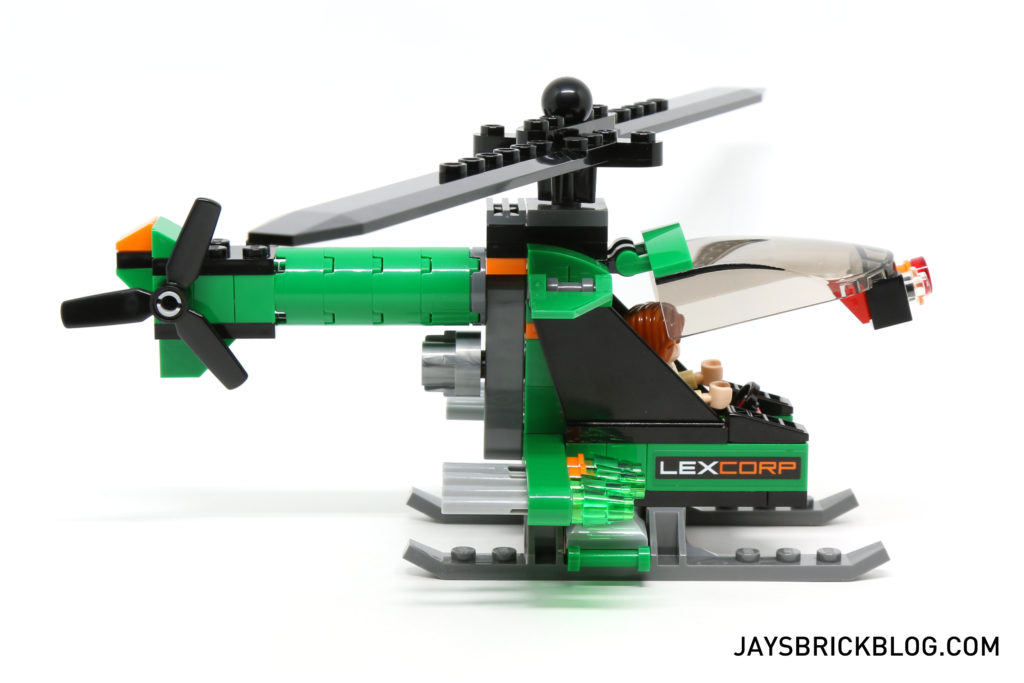 LEGO 76046 Heroes of Justice Sky High Battle - Lexcorp Helicopter Side
