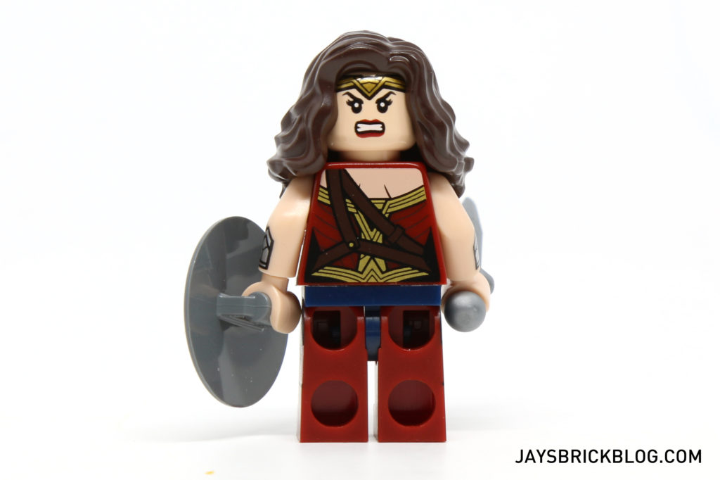 LEGO 76046 Heroes of Justice Sky High Battle - Wonder Woman Minifig Back Printing