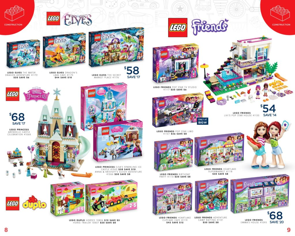 Australia Toy Sale 2016 - Big W LEGO Friends, Elves, Disney Princess