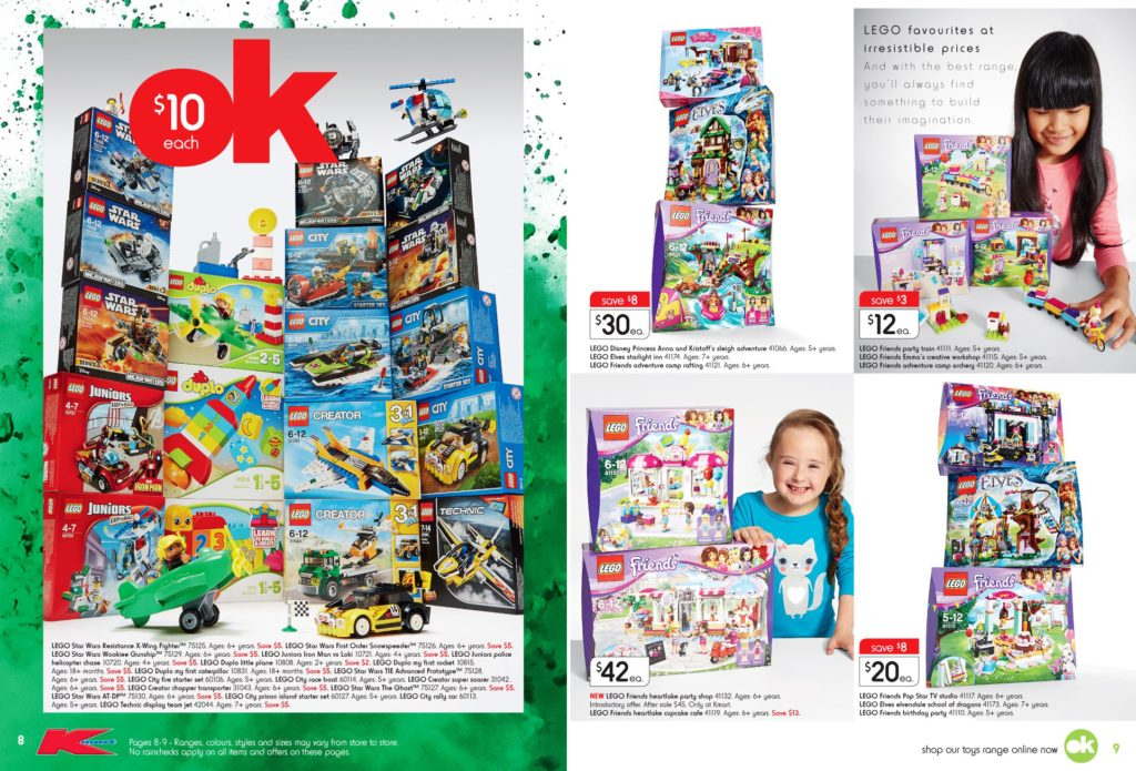 Australia Toy Sale 2016 - Kmart LEGO Catalogue 1