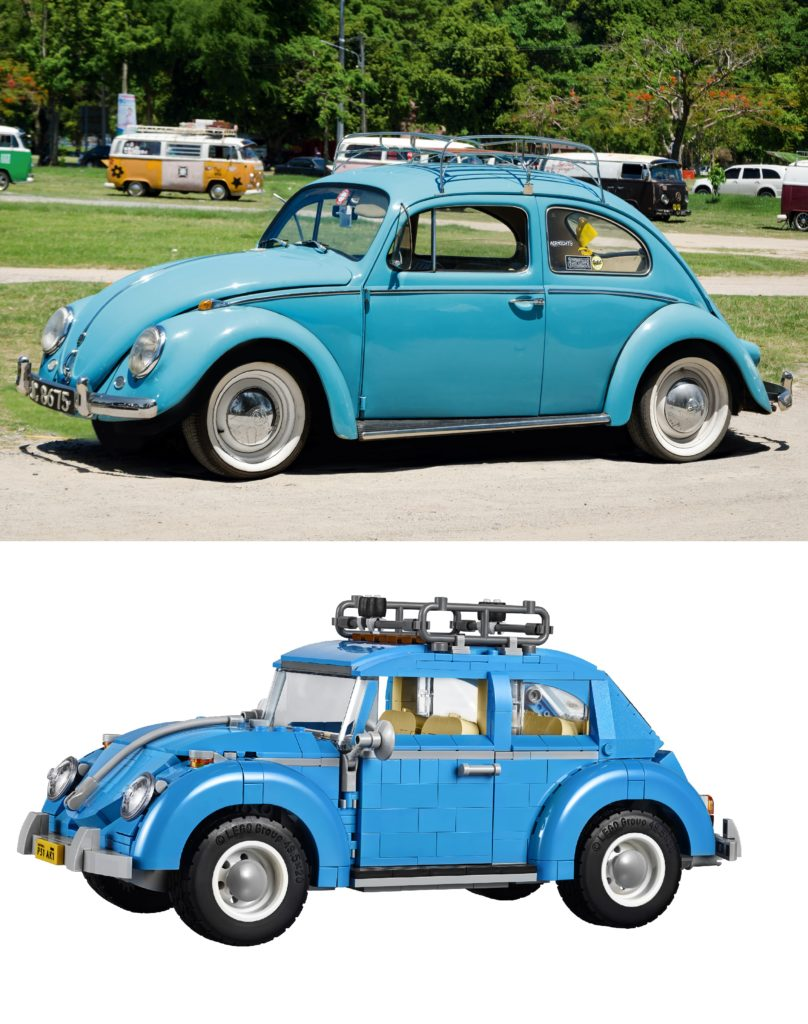 LEGO 10252 Volkswagen Beetle - Comparison Real Beetle
