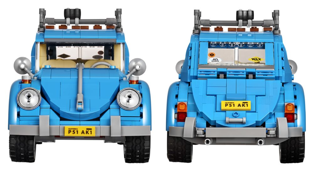 LEGO 10252 Volkswagen Beetle - Front and Back
