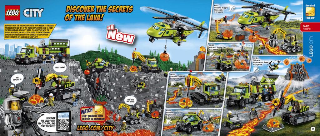 LEGO 2HY 2016 Calendar - City Volcano