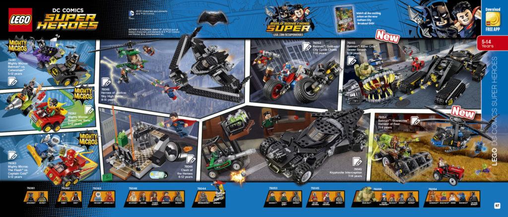 LEGO 2HY 2016 Calendar - DC Super Heroes