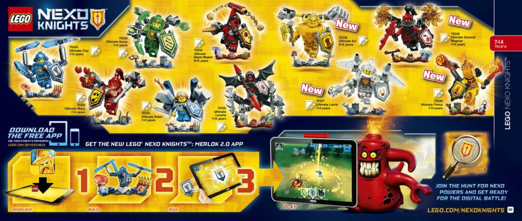 LEGO 2HY 2016 Calendar - Nexo Knights Ultimate