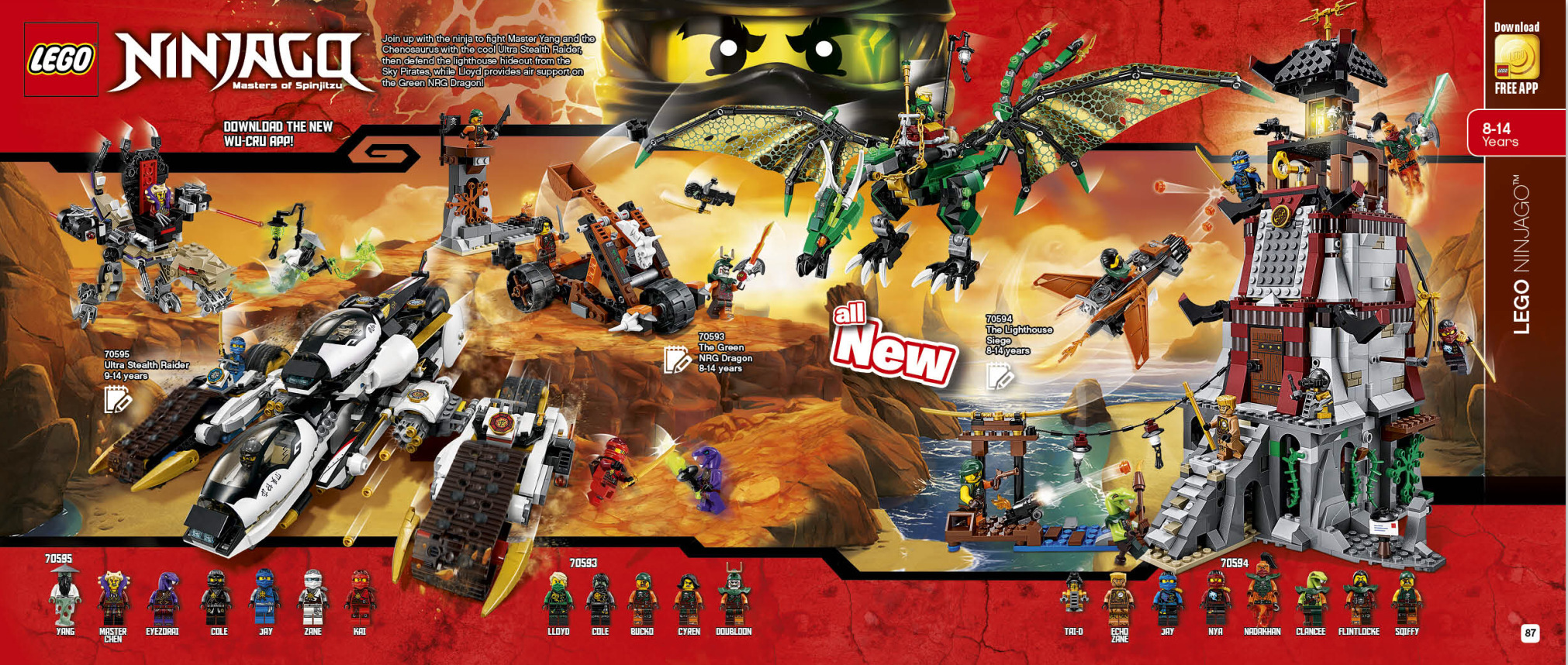 Second Half 2016 Lego Catalogue June December 70596 Ninjago Samurai X Cave Chaos 2hy Calendar