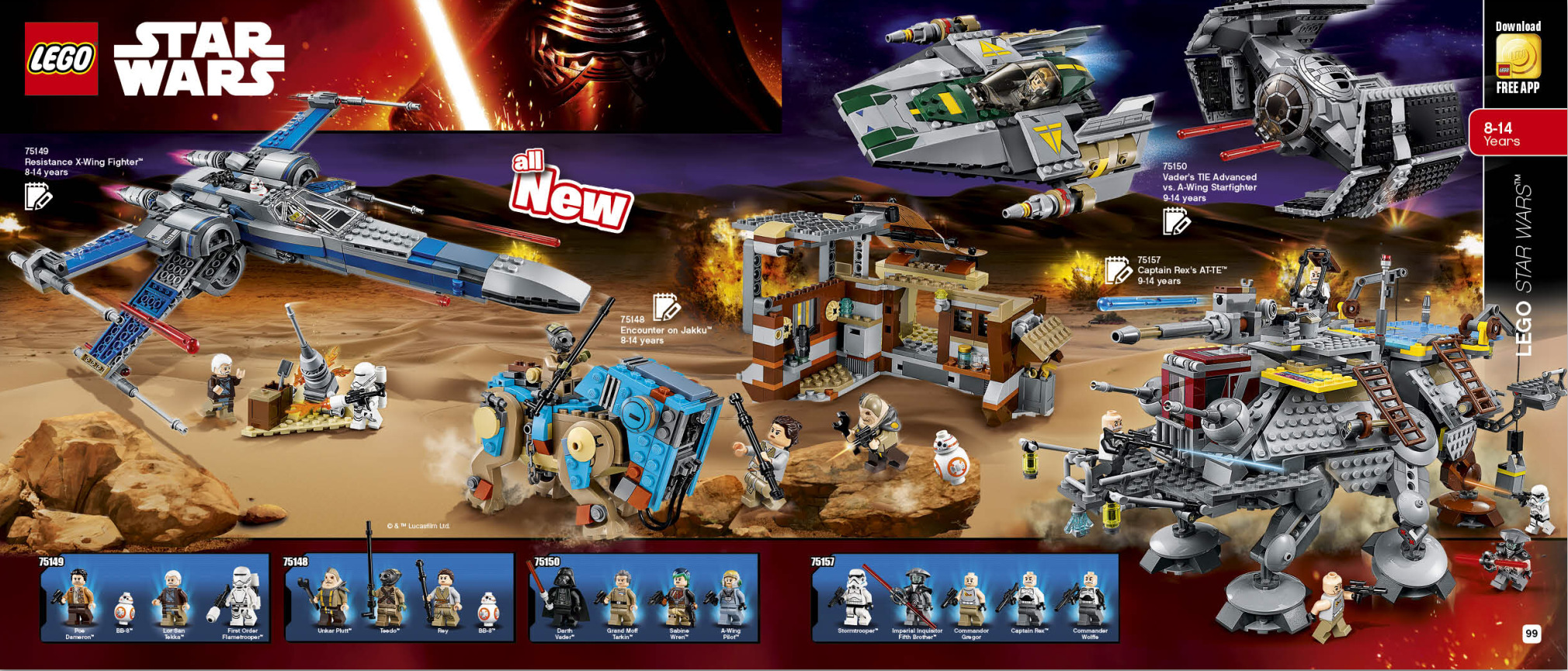 Lego star wars sets 2016 winter