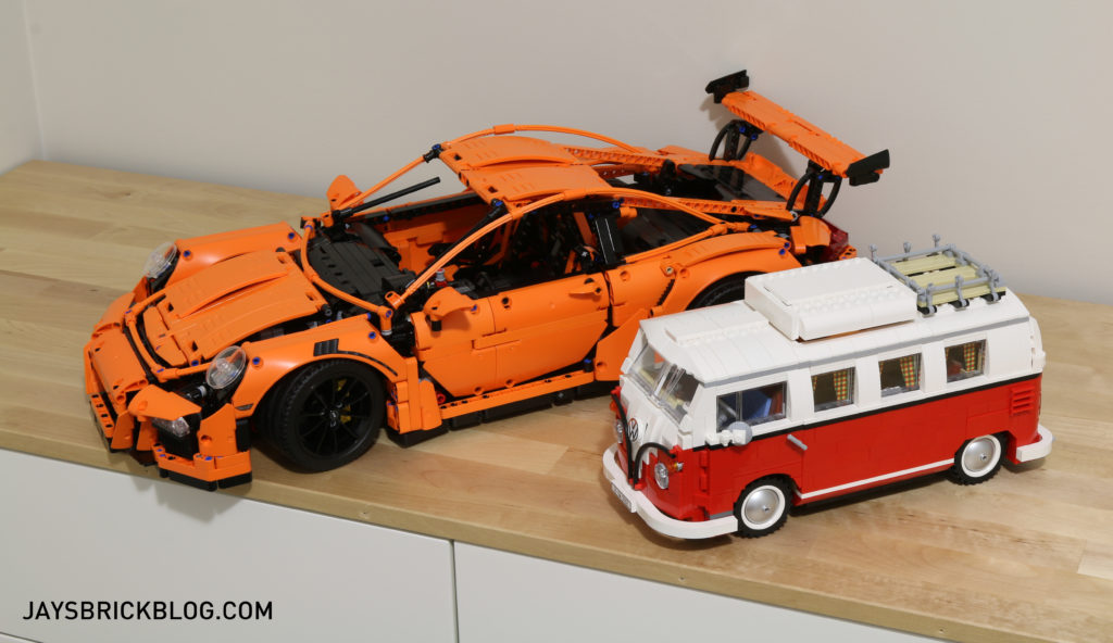LEGO 42056 Technic Porsche 911 - Comparison VW Camper