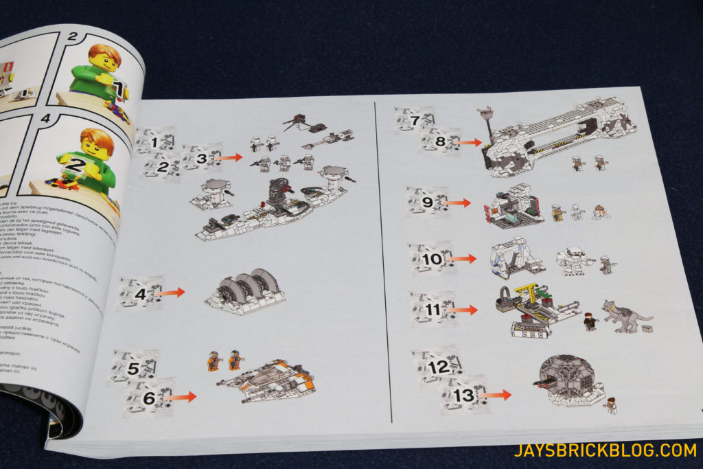 LEGO 75098 Assault on Hoth - Bad Checklist