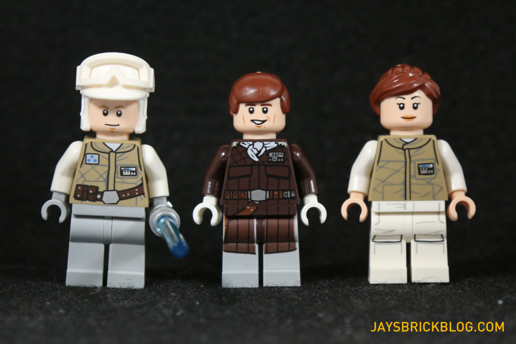 LEGO 75098 Assault on Hoth - Luke Skywalker, Han Solo, Toryn Farr Minifigures