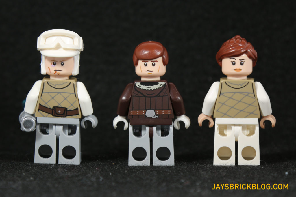 LEGO 75098 Assault on Hoth - Luke Skywalker, Han Solo, Toryn Farr Minifigures Back