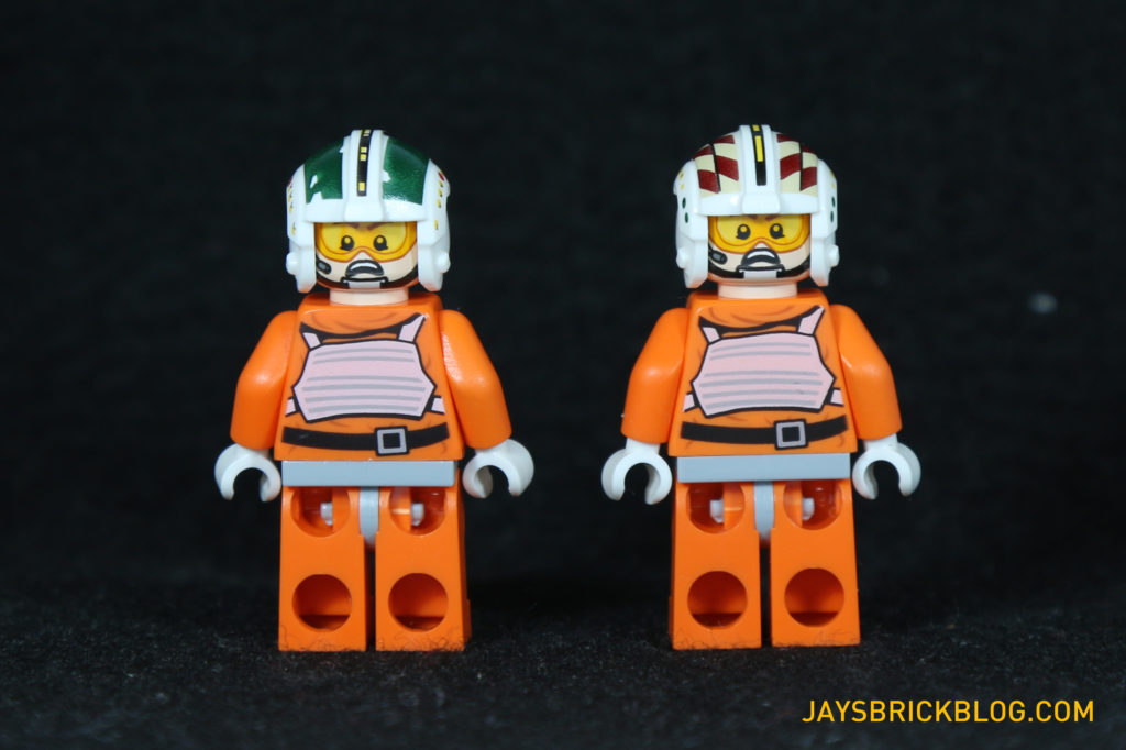 LEGO 75098 Assault on Hoth - Wedge Antilles and Wes Janson Minifigures Back