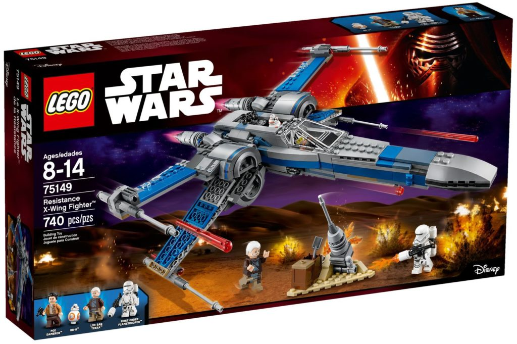 LEGO 75149 Star Wars Resistance X-Wing Fighter Box