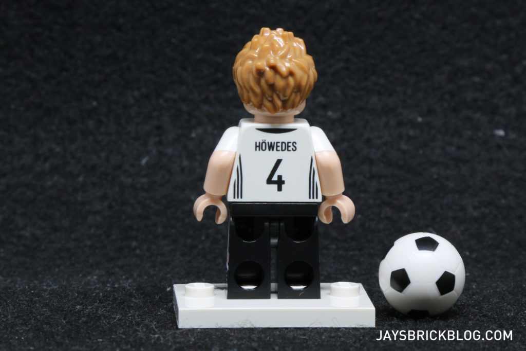 LEGO German Football Minifigures -Benedikt Howedes Minifig Back