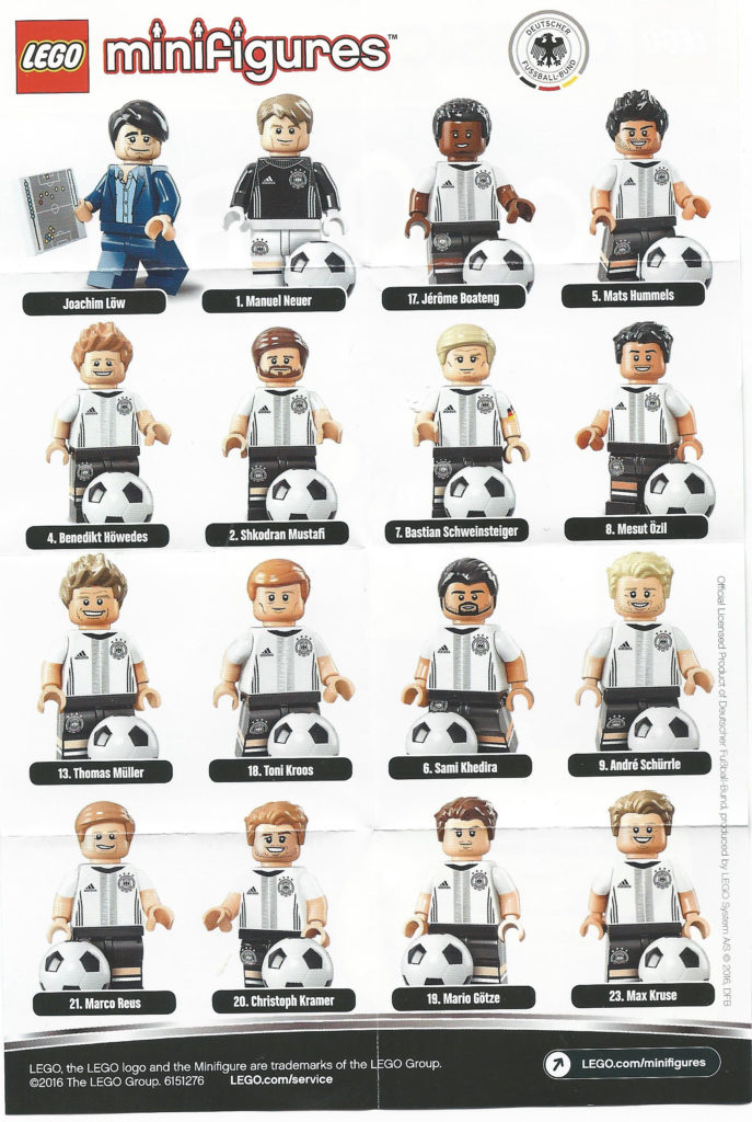 LEGO German Football Minifigures - Checklist