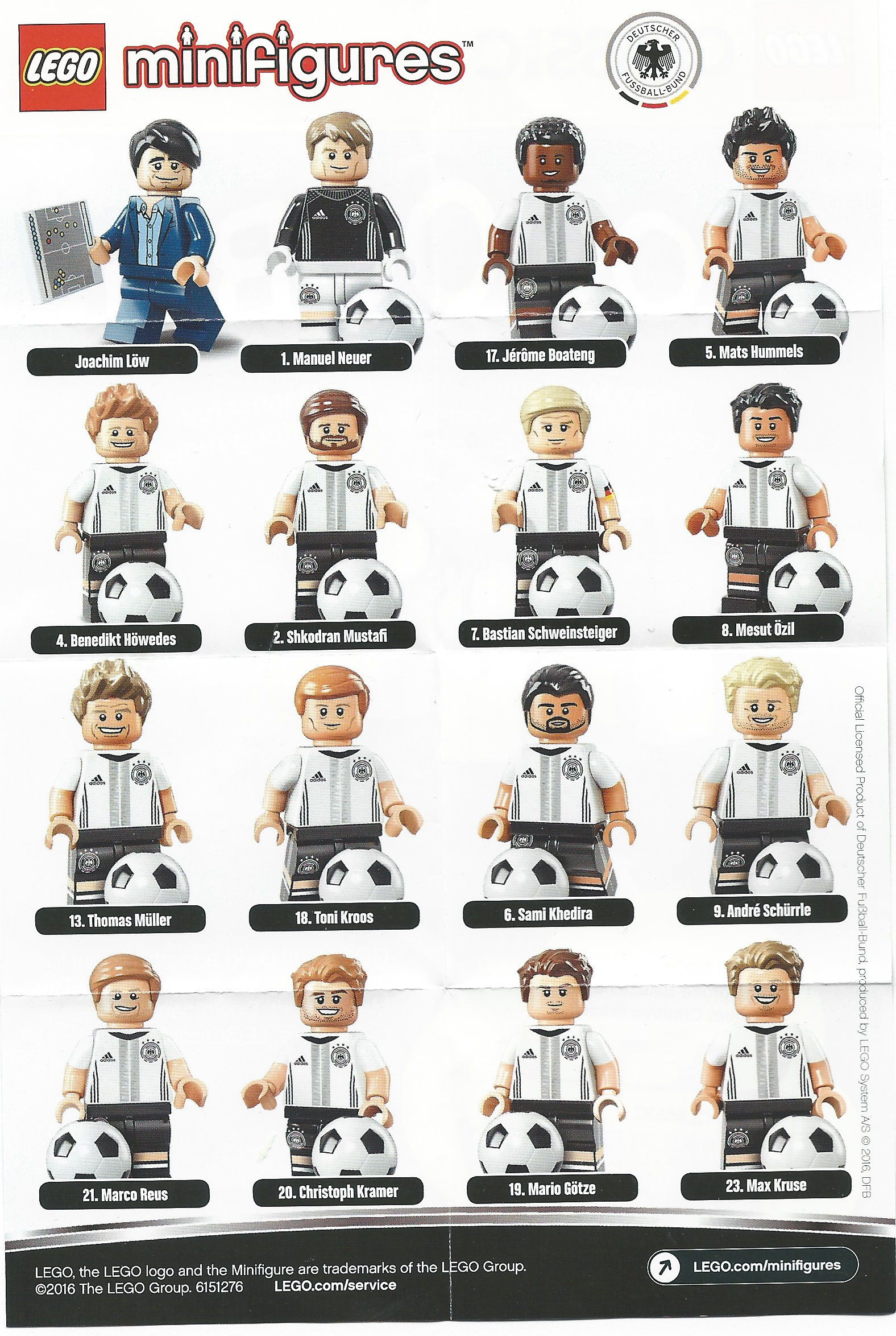 Review: LEGO German Football Team Minifigures