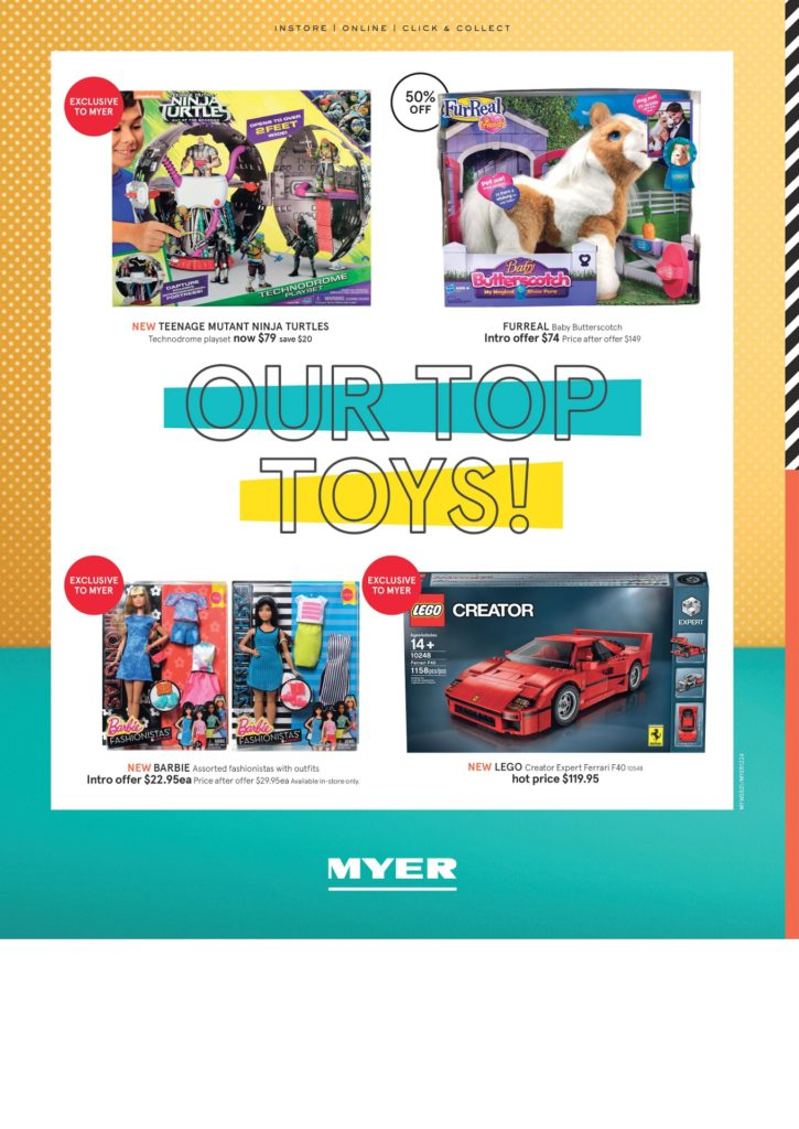 Myer Toy Sale 2016 LEGO Catalogue Ferrari F40