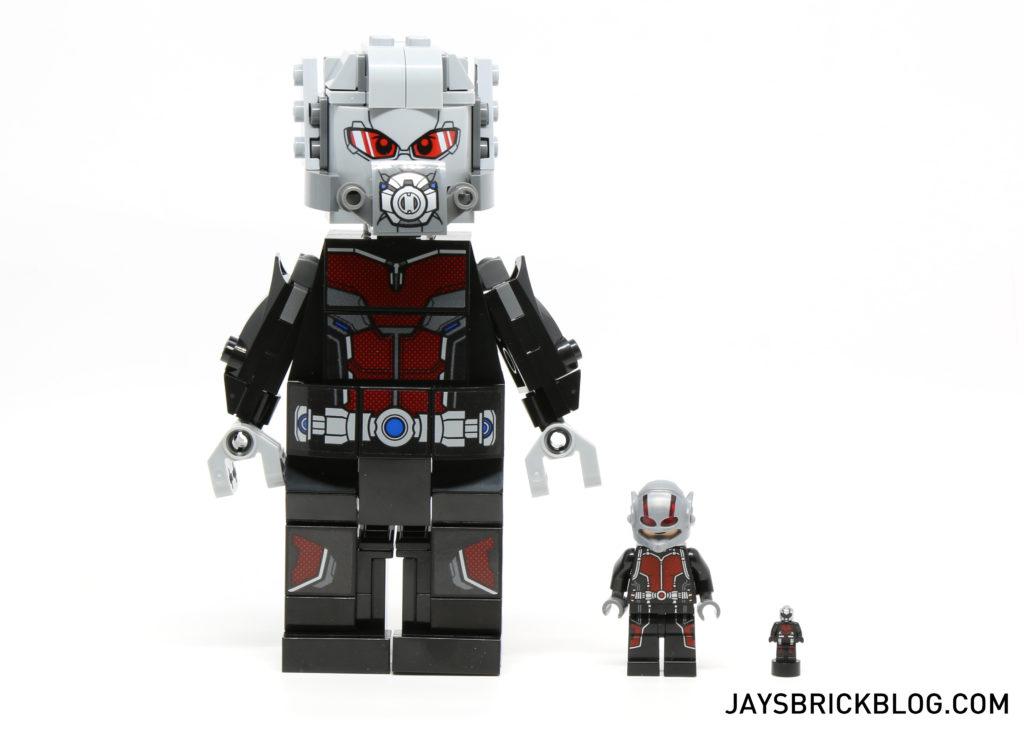LEGO 76051 Super Hero Airport Battle - Giant Man Ant Man comparison