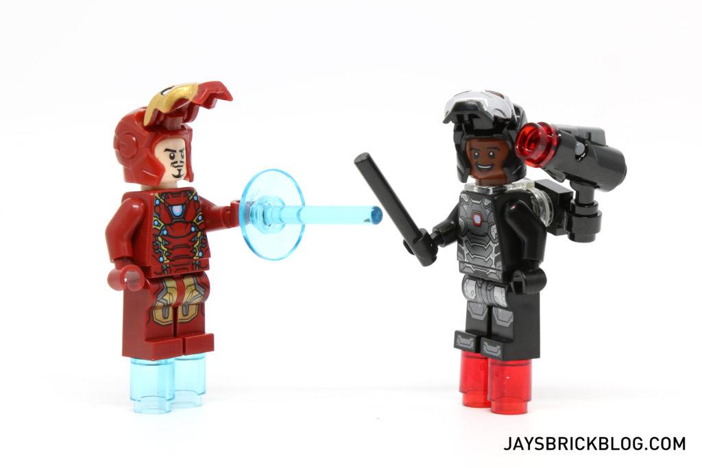 LEGO 76051 Super Hero Airport Battle - Iron Man & War Machine Visors Lifted