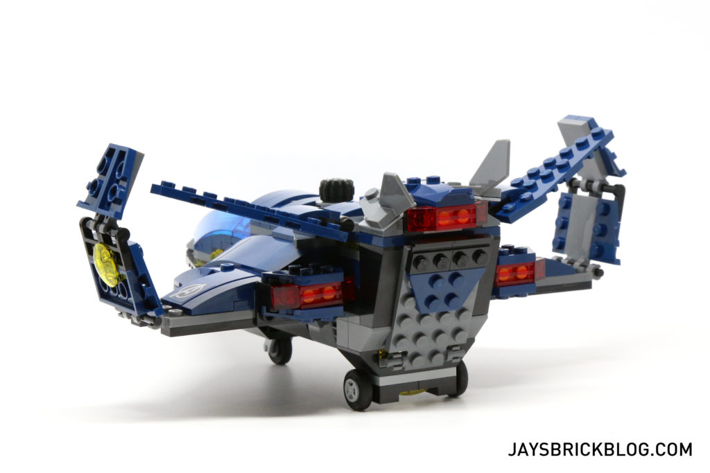 LEGO 76051 Super Hero Airport Battle - Quinjet Back