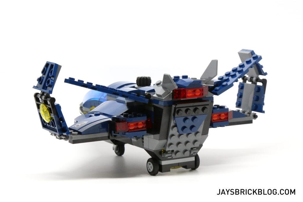 LEGO 76051 Super Hero Airport Battle - Quinjet Back