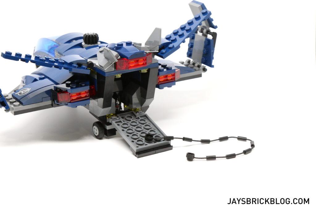 LEGO 76051 Super Hero Airport Battle - Quinjet Back Open