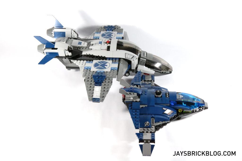 LEGO 76051 Super Hero Airport Battle - Quinjet Comparison 2
