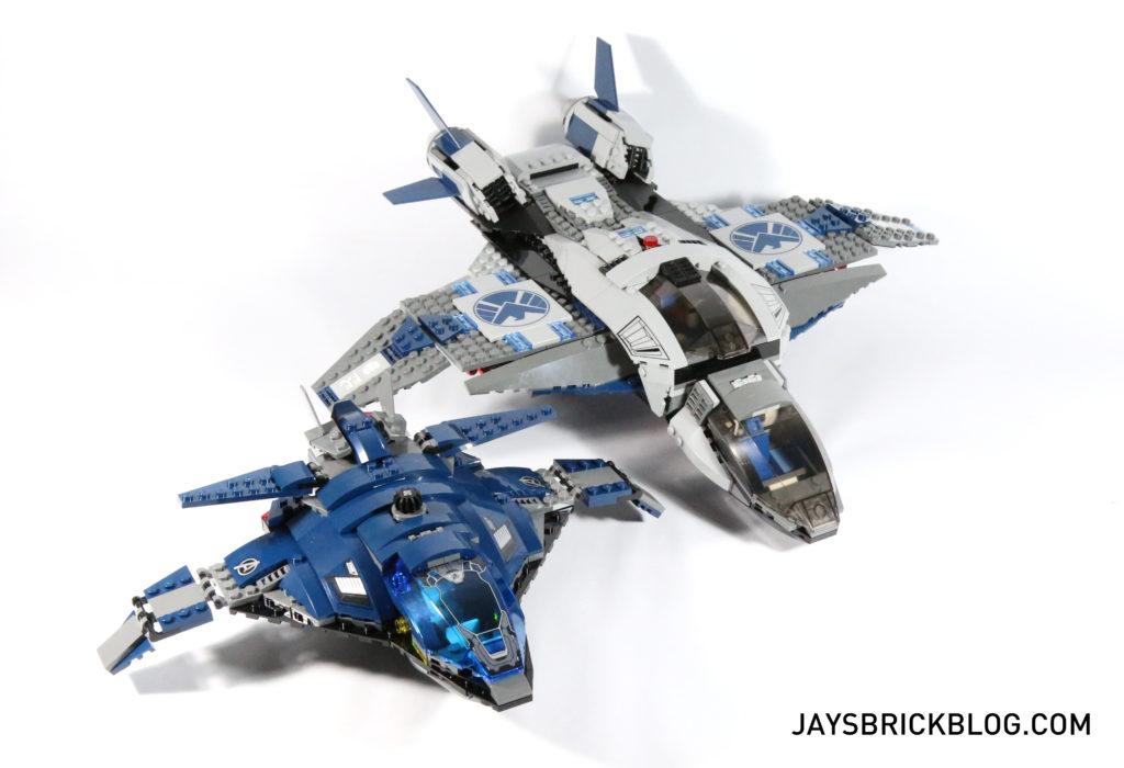 LEGO 76051 Super Hero Airport Battle - Quinjet Comparison