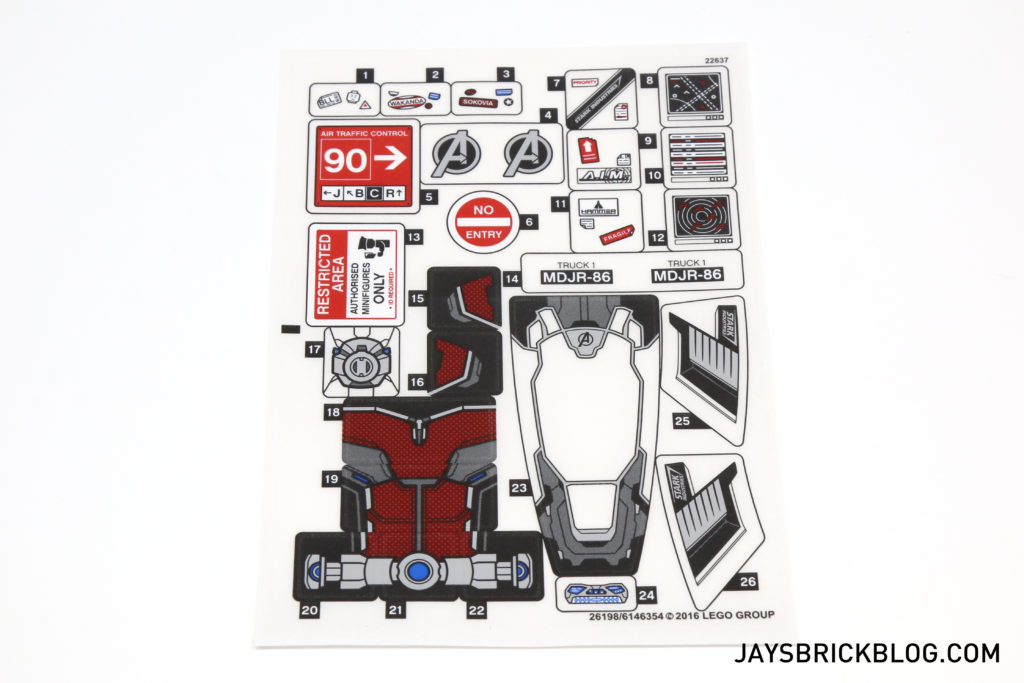 LEGO 76051 Super Hero Airport Battle - Sticker Sheet