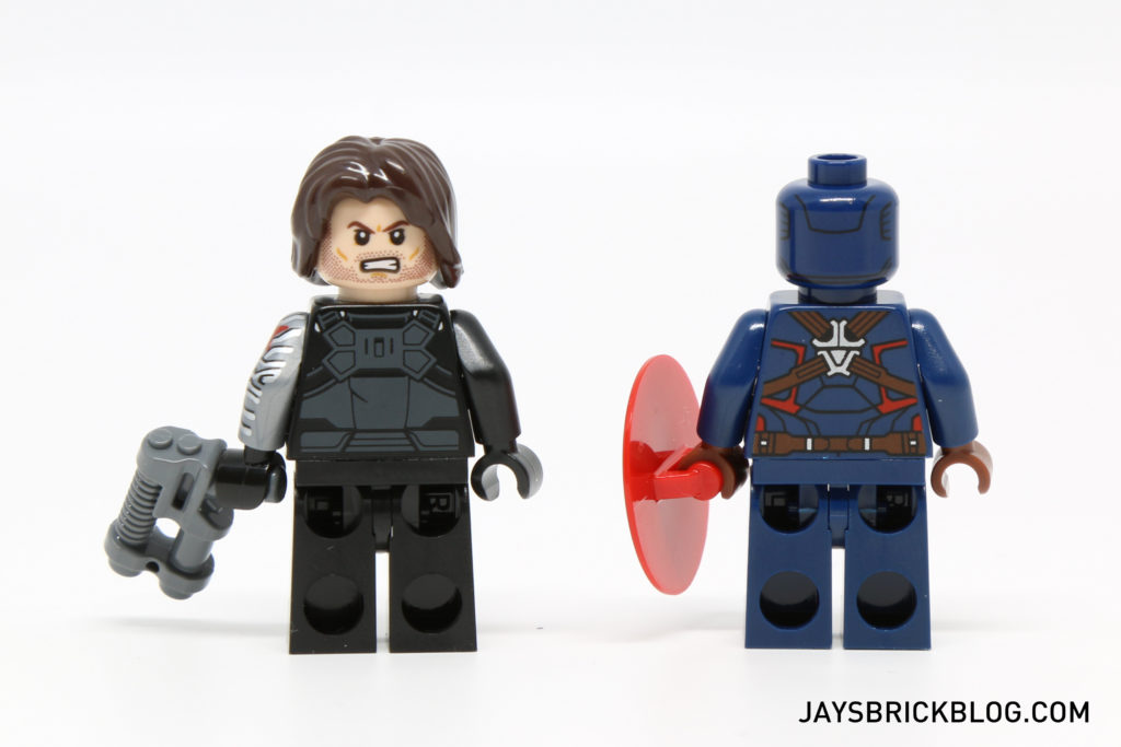 LEGO 76051 Super Hero Airport Battle - Winter Soldier & Captain America Minifigures Back