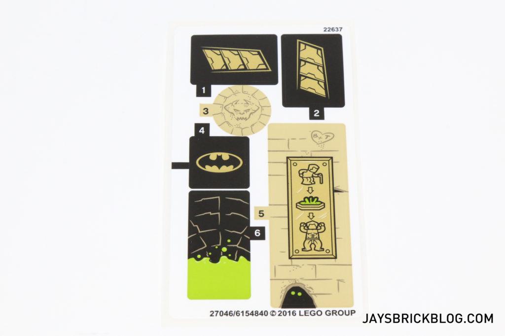 LEGO 76056 Rescue from Ra's Al Ghul - Sticker Sheet