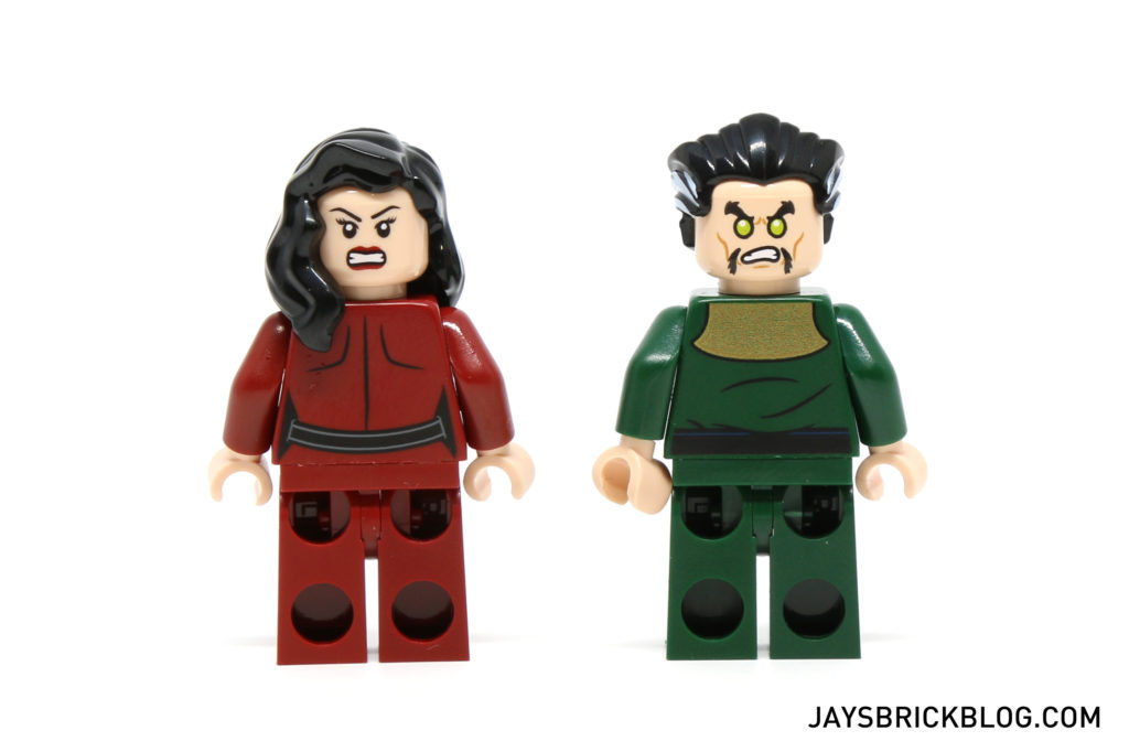 LEGO 76056 Rescue from Ra's Al Ghul - Thalia al Ghul and Ra's al Ghul Minifigures Back