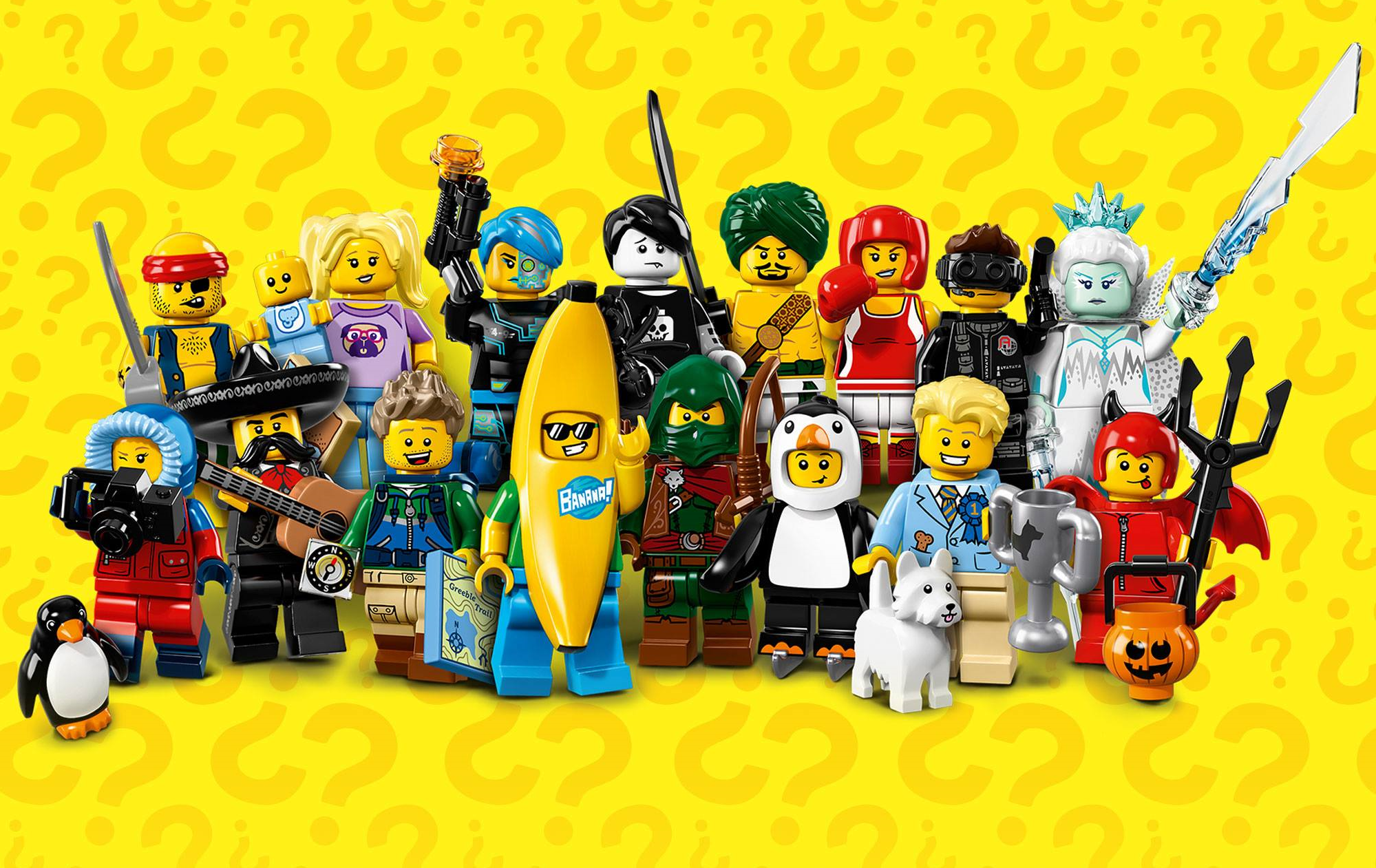 LEGO-MINIFIGURES SERIES 16 X 1 HEAD FOR THE ROGUE FROM SERIES 16 PARTS