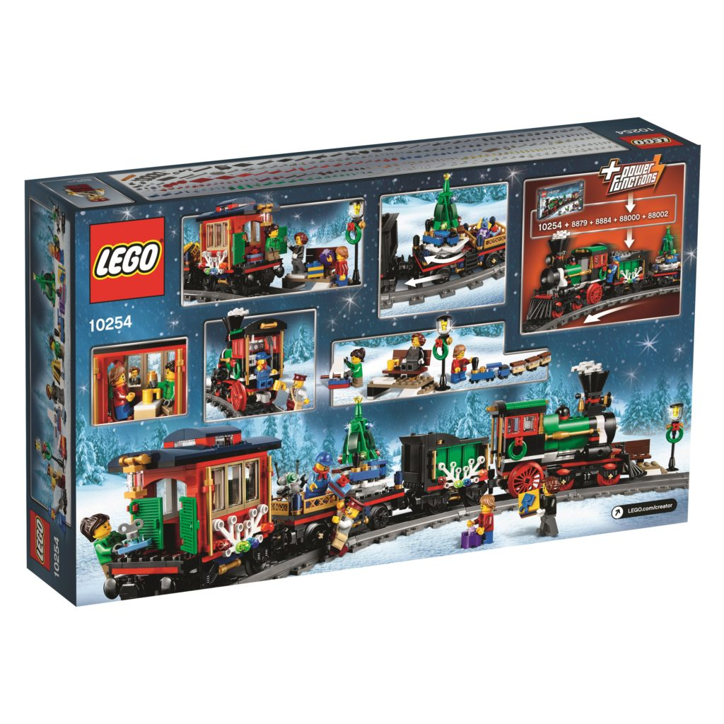 LEGO 10254 Winter Holiday Train - Back of Box
