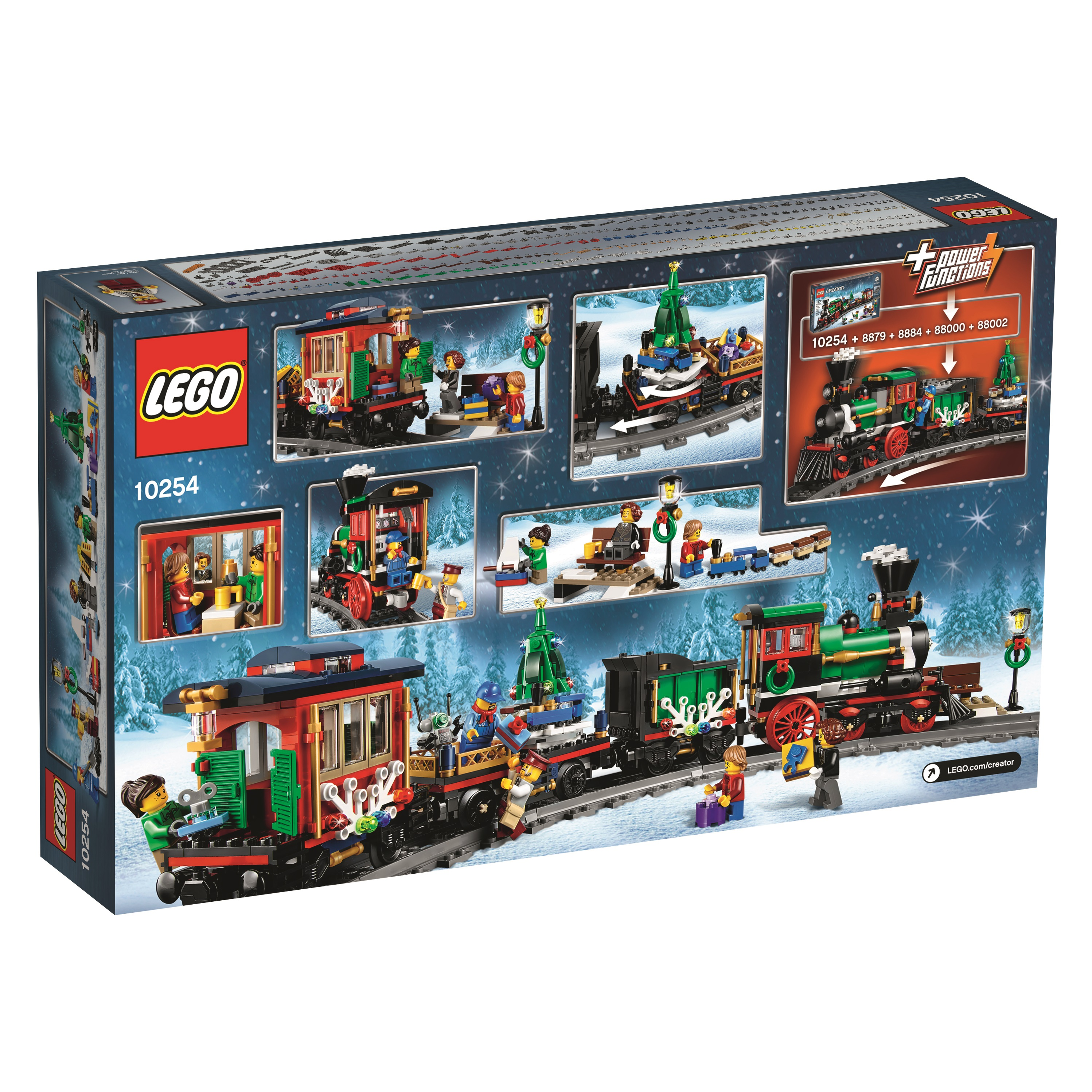lego 10254 winter holiday train back of box