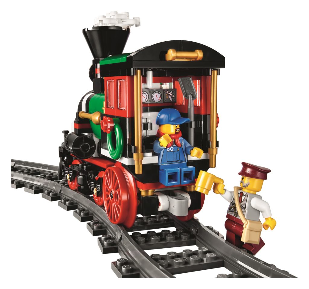 LEGO 10254 Winter Holiday Train - Locomotive Driver and Ticket Collector