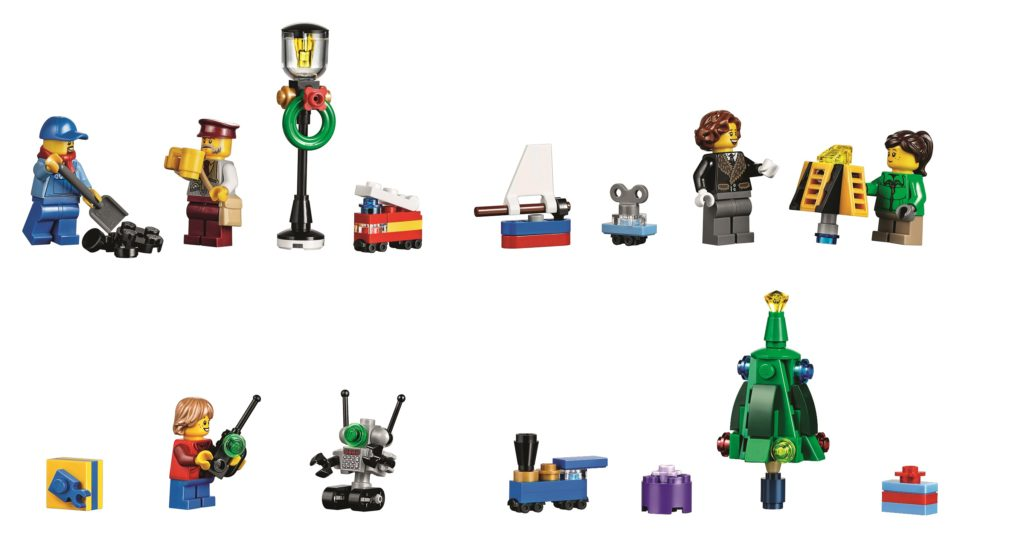 LEGO 10254 Winter Holiday Train - Minifigures and Toys