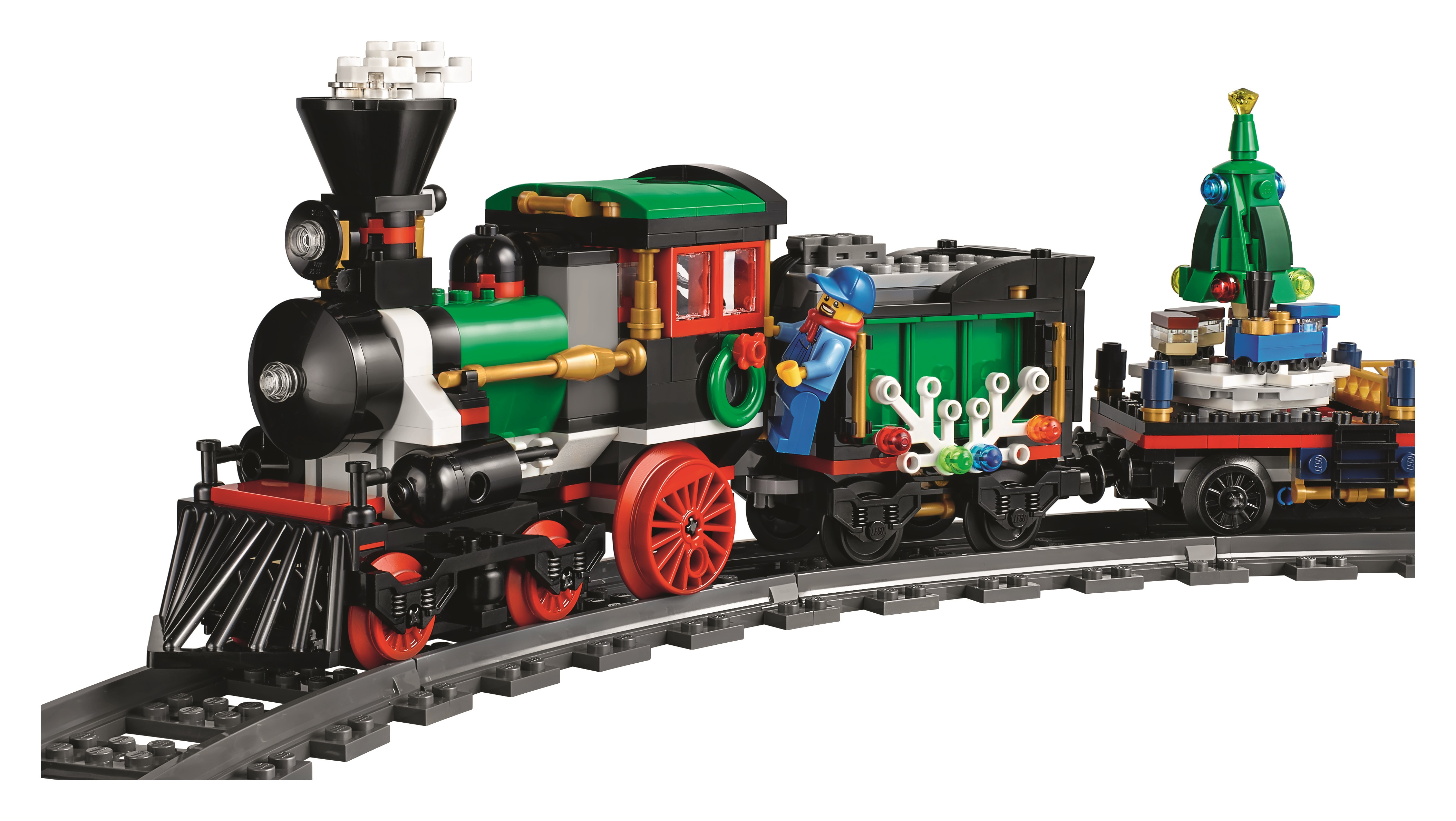 lego 10254 winter holiday train train engine