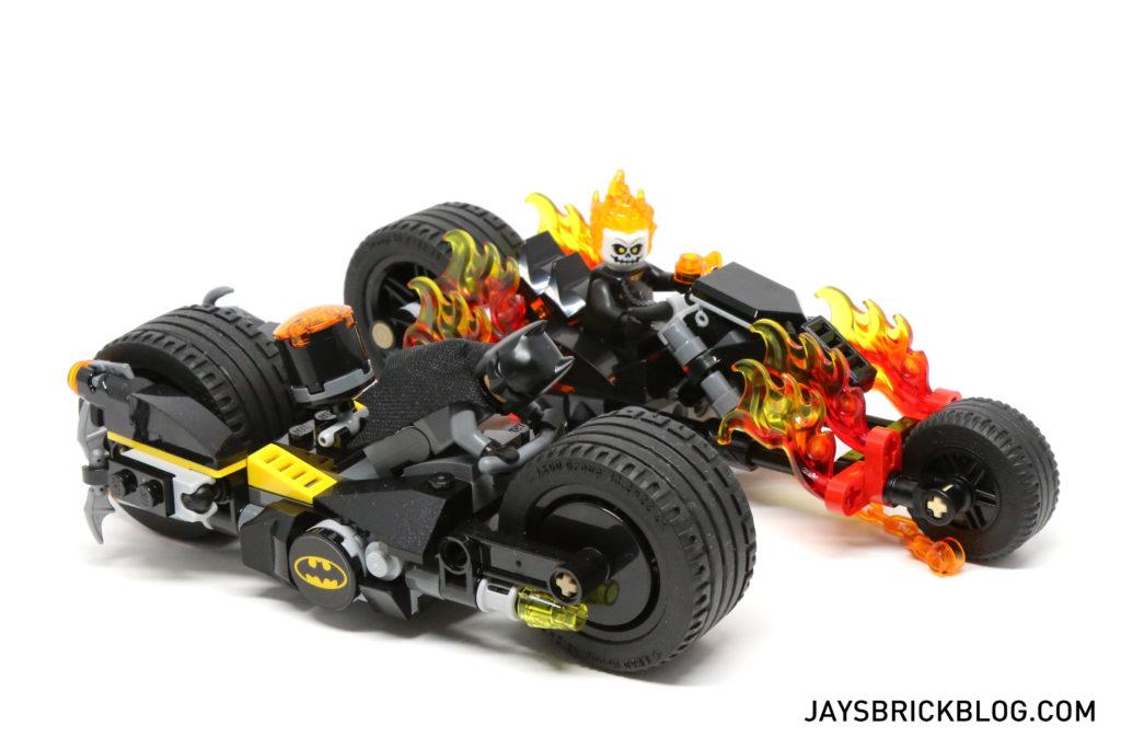LEGO 76058 Ghost Rider Team-Up - Bike Comparison