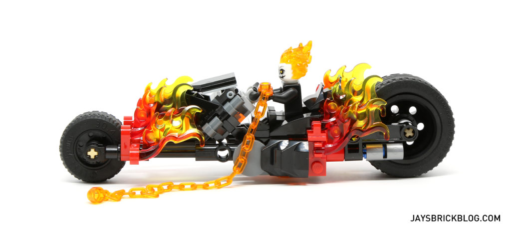 LEGO 76058 Ghost Rider Team-Up - Ghost Rider Bike Side View