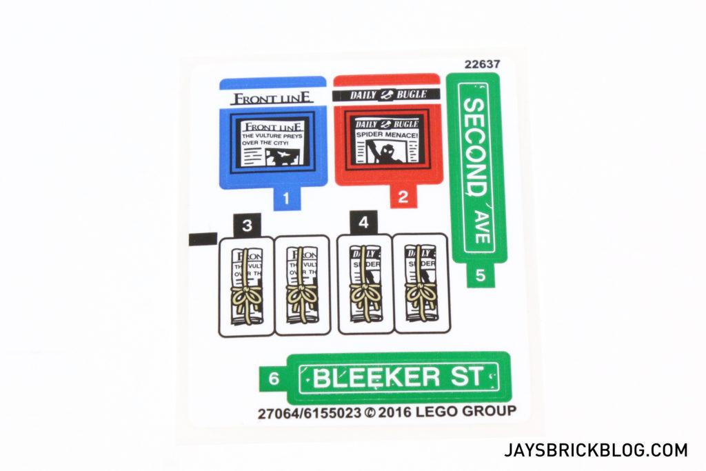 LEGO 76058 Ghost Rider Team-Up - Sticker Sheet