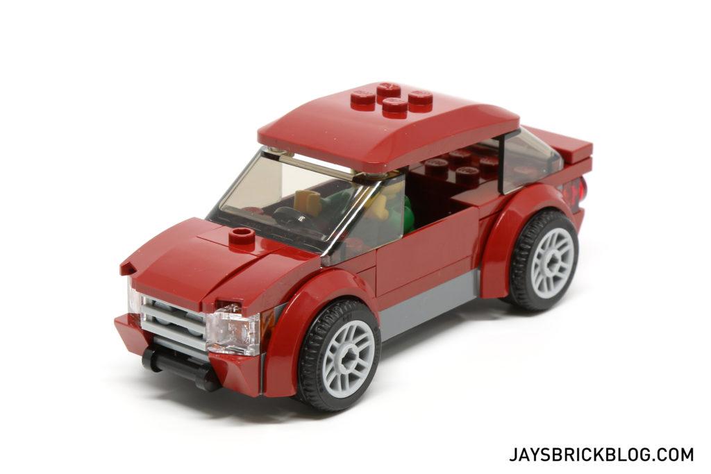 LEGO 60132 Service Station - Dark Red Car