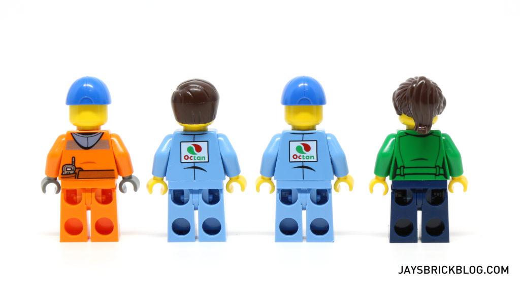 LEGO 60132 Service Station - Minifigures Back Printing
