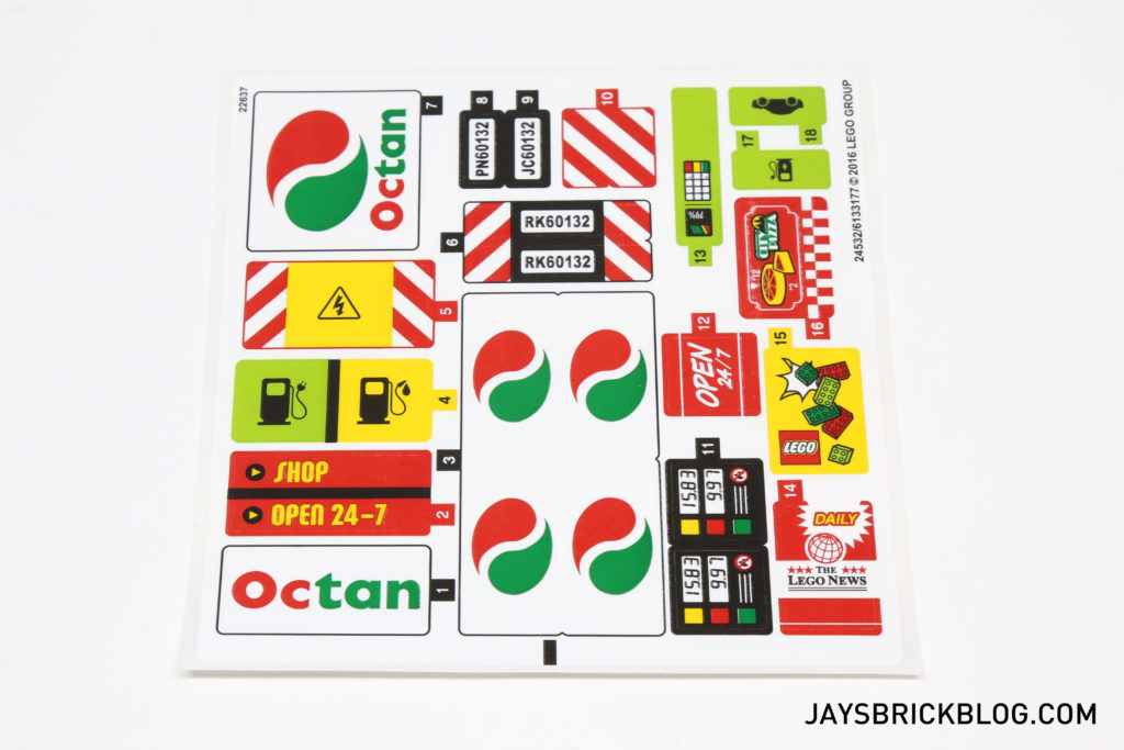 LEGO 60132 Service Station - Sticker Sheet