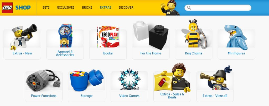 New LEGO Online Store - Extras
